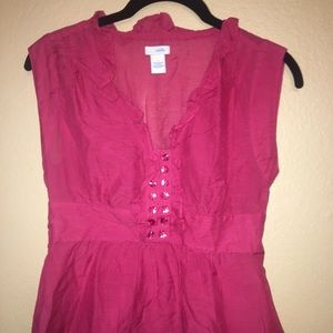 """Adorable Anthropologie """"Odeille"""" red blouse size 2"""